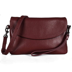 Befen Full Grain Leather Wristlet Clutch Wallet Phone Crossbody Wallet Purse with Detachable Shoulder Strap
