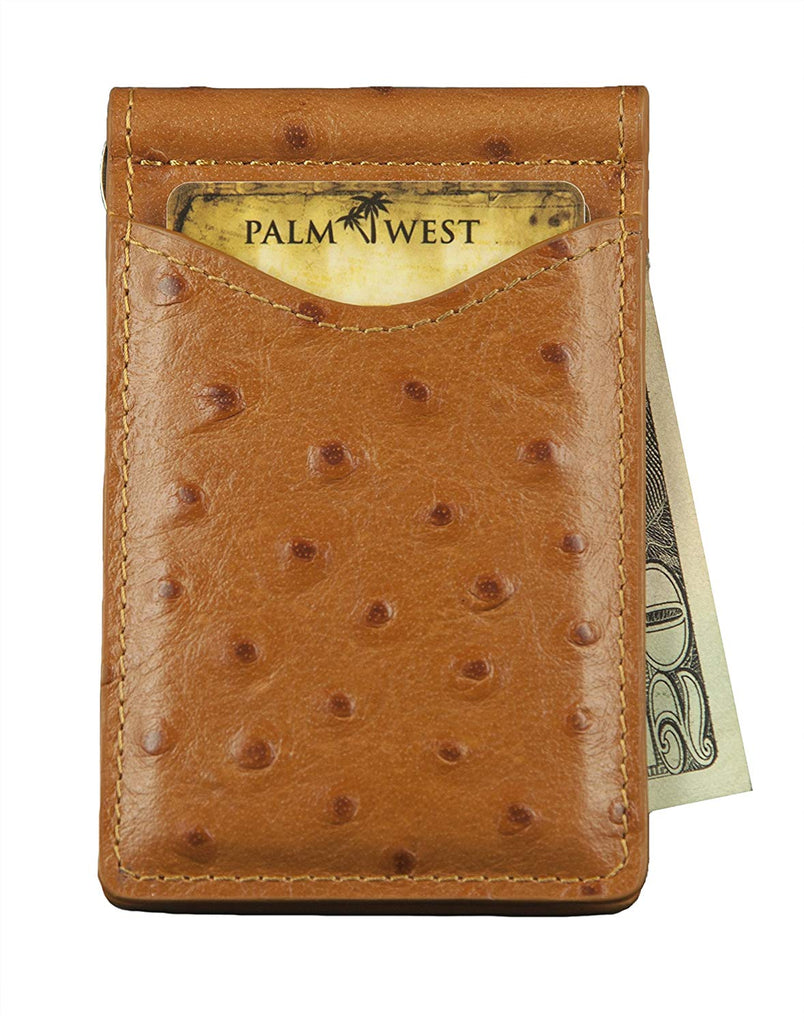 15494f03dc30 Palm West Leather Minimalist Leather Money Clip Wallet with RFID Blocking  Technology