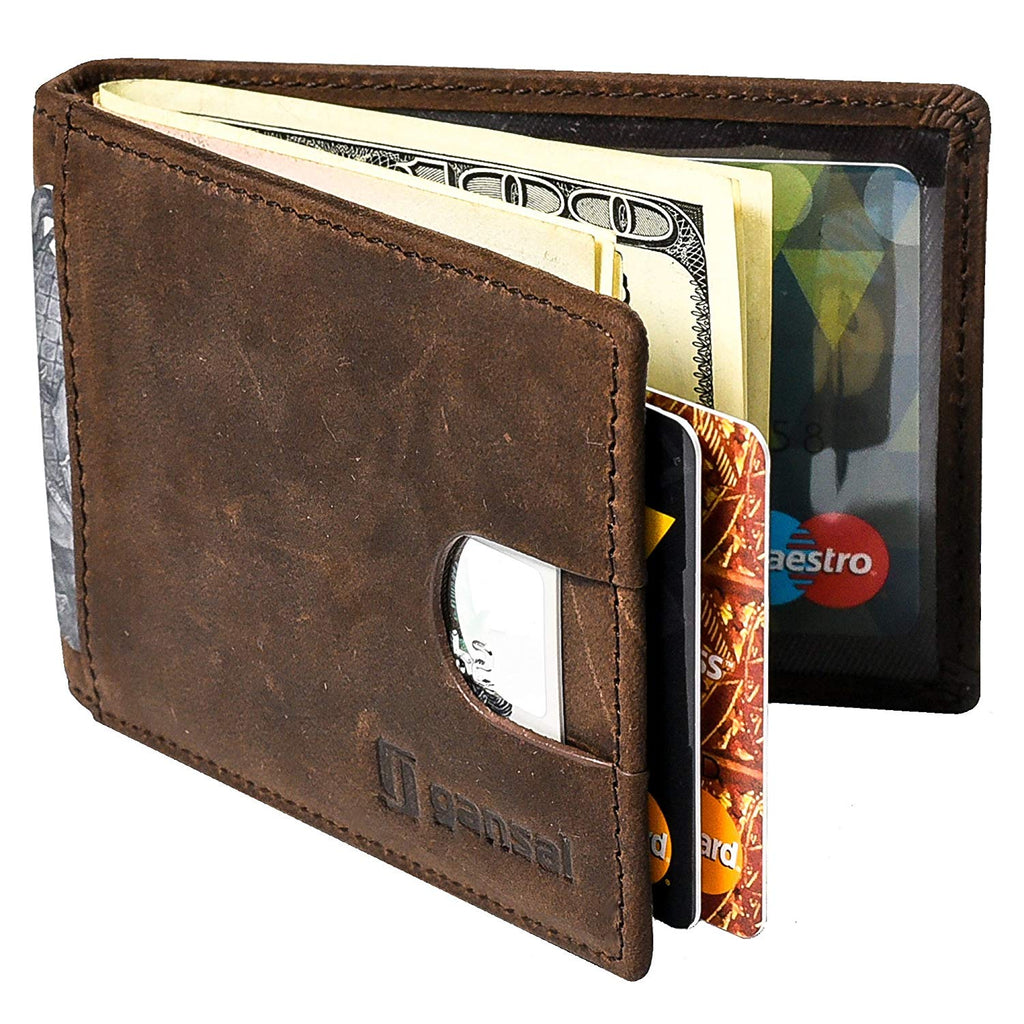 Soft Touch Stylish Slim Weave Genuine Leather Credit Card Holder Travel Money Wallet