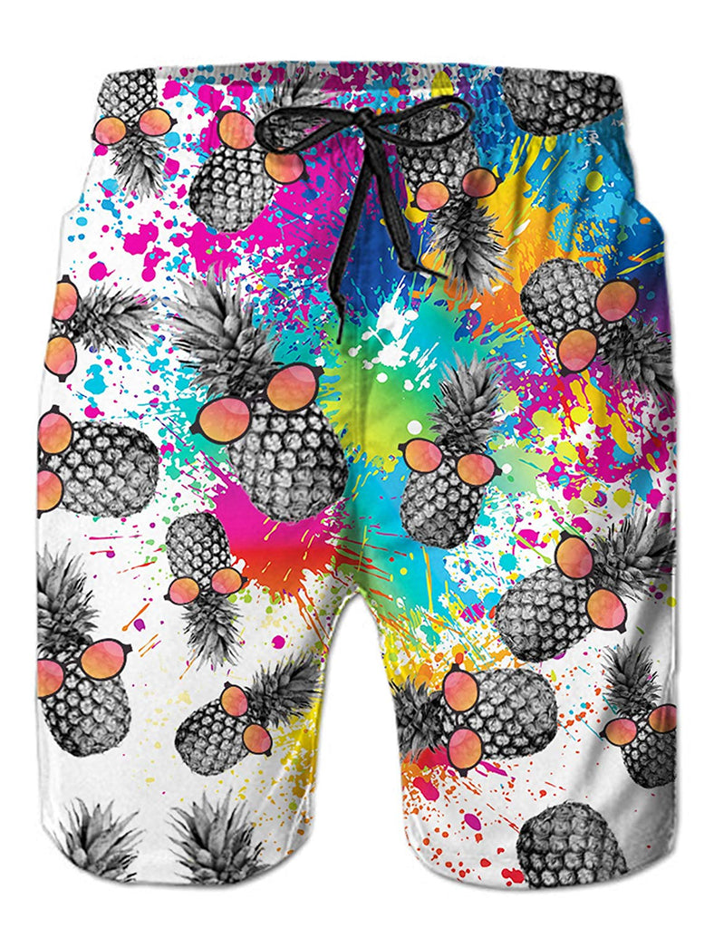 c9ff13c2b0698 Loveternal Casual Mens Swim Trunks Quick Dry Printed Beach Shorts Summer  Boardshorts with Mesh Lining