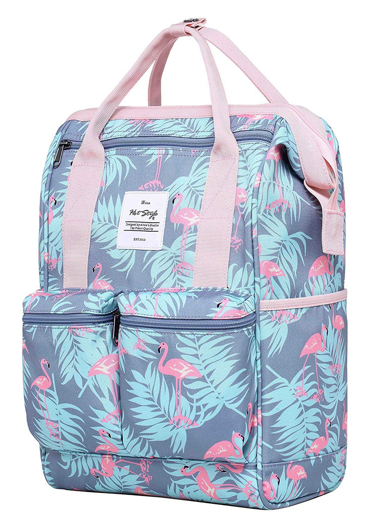 new york outlet on sale half price DISA Chic Doctor Bag Style College Backpack Travel Daypack | 17.3x10.6x6.7in