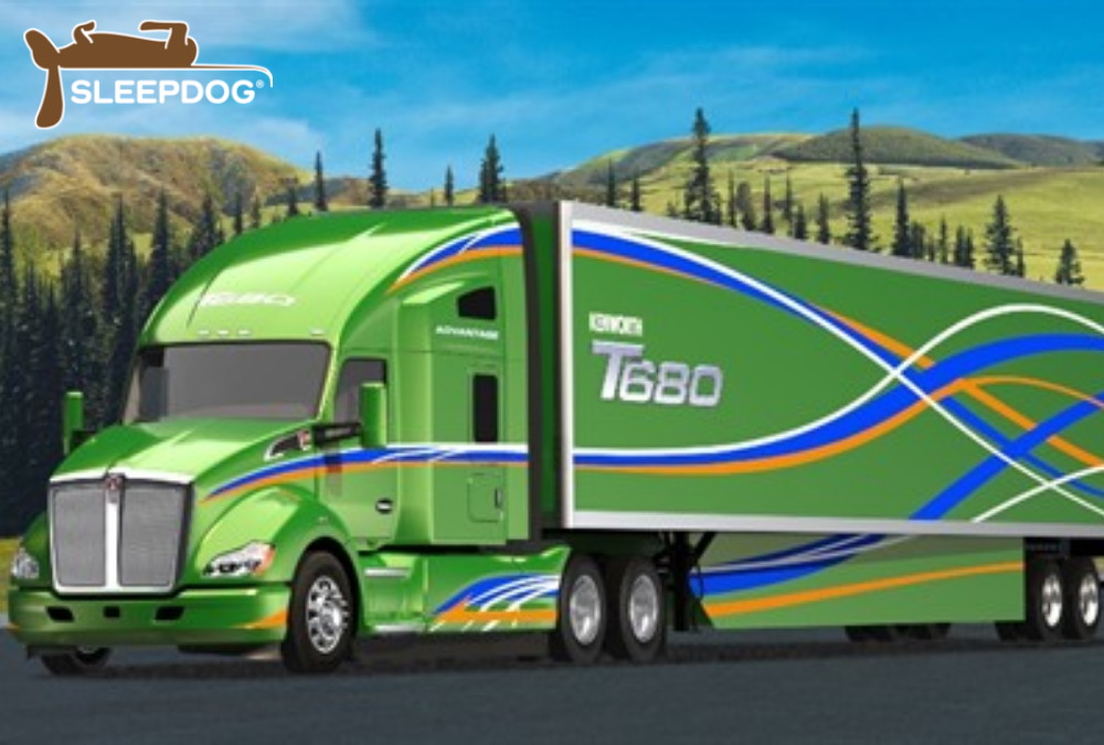 Kenworth T680 Advantage and SleepDog Logo