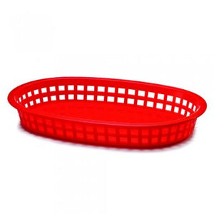 Chicago Oval Plastic Basket 10.5x7x1.5""