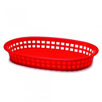 Chicago Oval Plastic Basket 10.5x7x1.5