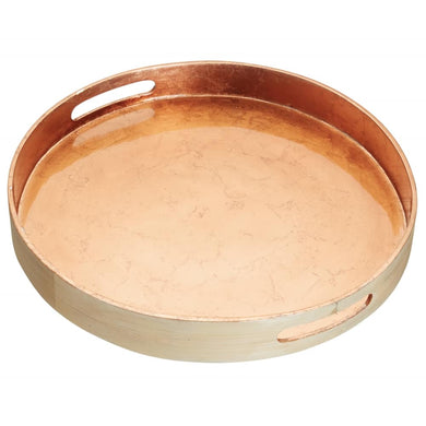Copper Lacquered Bamboo Serving Tray
