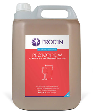 Proton - Prototype W pH Neutral Glasswash Detergent 5L