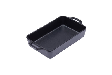 Oblong Dish - Cast Iron Effect Melamine