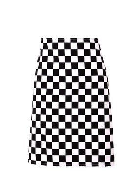 Black Checkerboard Bar Apron