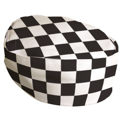 Pegasus - Black & White Checkerboard Skull Cap