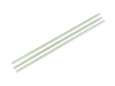 5mm Standard green stripe clear PLA straws (8.25