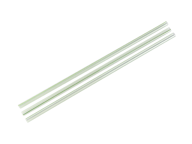 7mm Jumbo green & clear stripe PLA straws (8.25