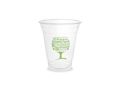 12oz PLA cold cup, 96-Series - Green Tree