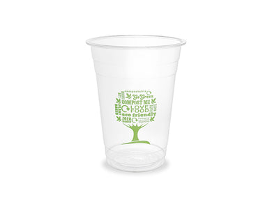16oz PLA cold cup, 96-Series - Green Tree