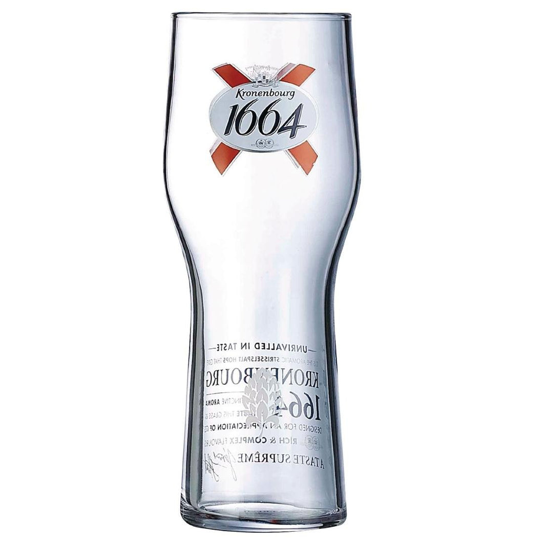 Arcoroc Kronenbourg 1664 Beer Glasses 570ml CE Marked
