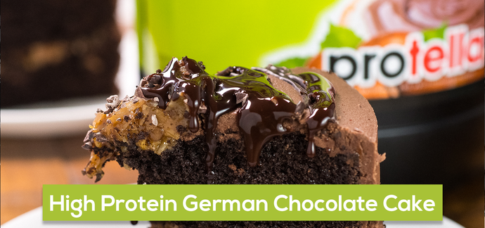 High Protein German Chocolate Cake