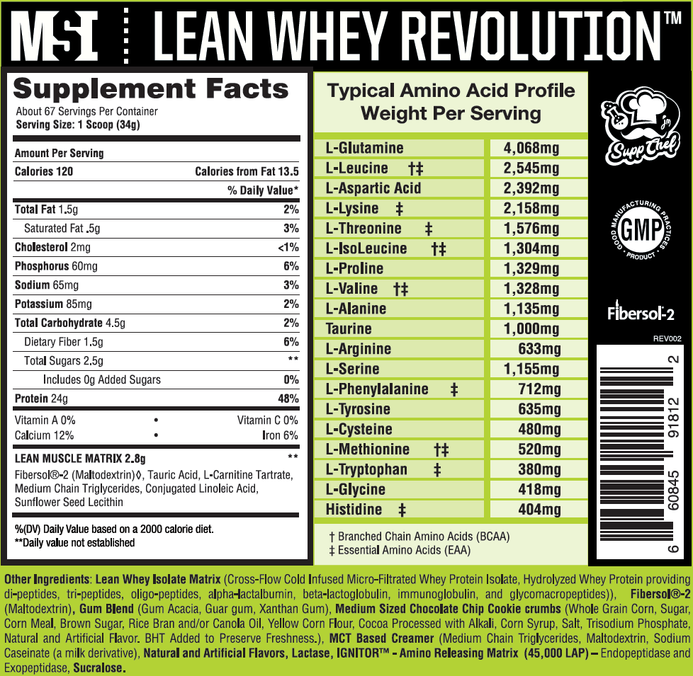 Whey Protein Supplement with Cereal Flavors
