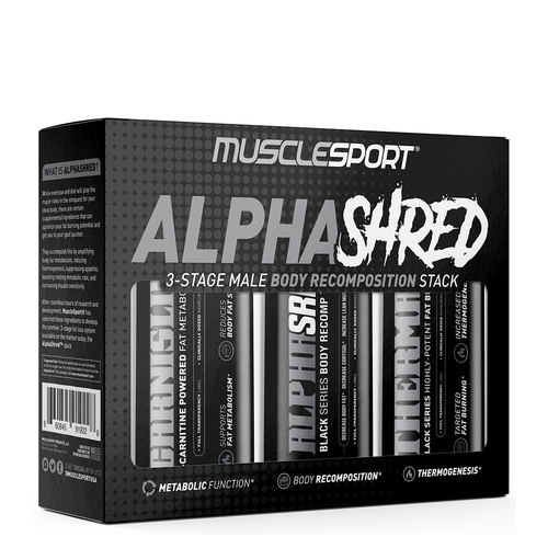 MuscleSport | Retail Exclusive Supplements AlphaShred™ Shredding Stack
