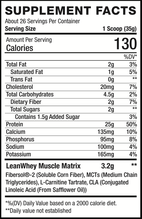 LeanWhey™ Limited Edition – Lean Charms supplement facts