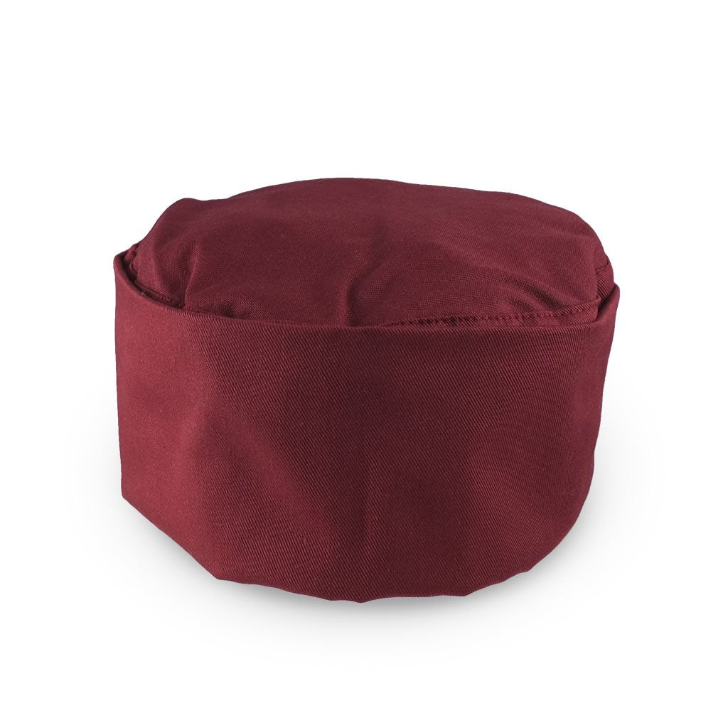Chef Skull Cap - Burgundy (Medium) (AP-SC-CAP-BUR-M-UFO)