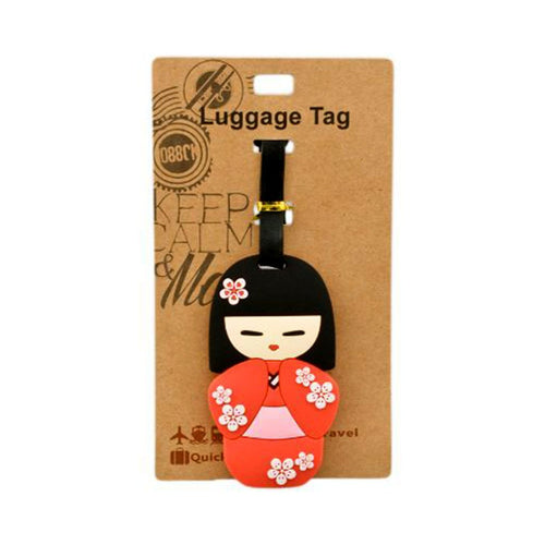 Red Kokeshi Luggage Tag (DE-LU2-ACO)