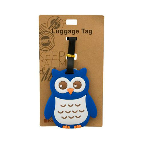 Blue Owl Luggage Tag (DE-LU4-ACO)