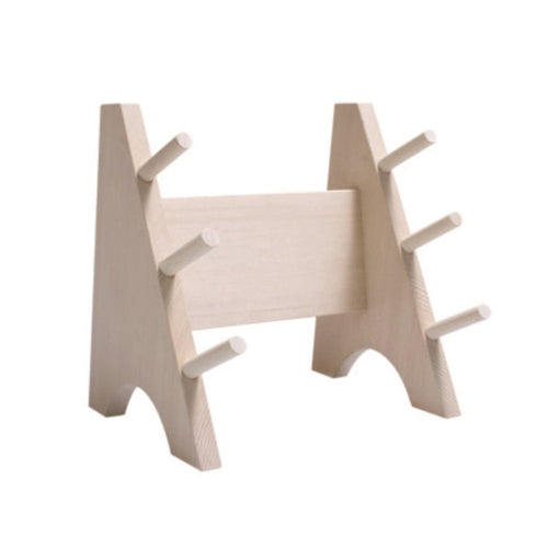 Wooden Knife Stand 3-Pc (KV-HA-1045-SAW)