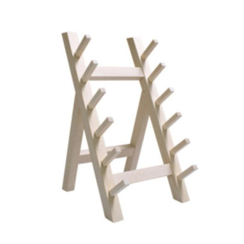 Wooden Knife Stand 6-Pc (KV-HA-1046-SAW)