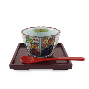 "4.75"" Square Chiwanmushi Tray with Spoon Rest (TW-10108-TYL)"