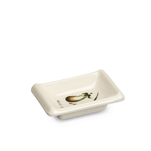 Melamine Soy Sauce Dish with Eggplant Pattern (TW-310-E-SDM)