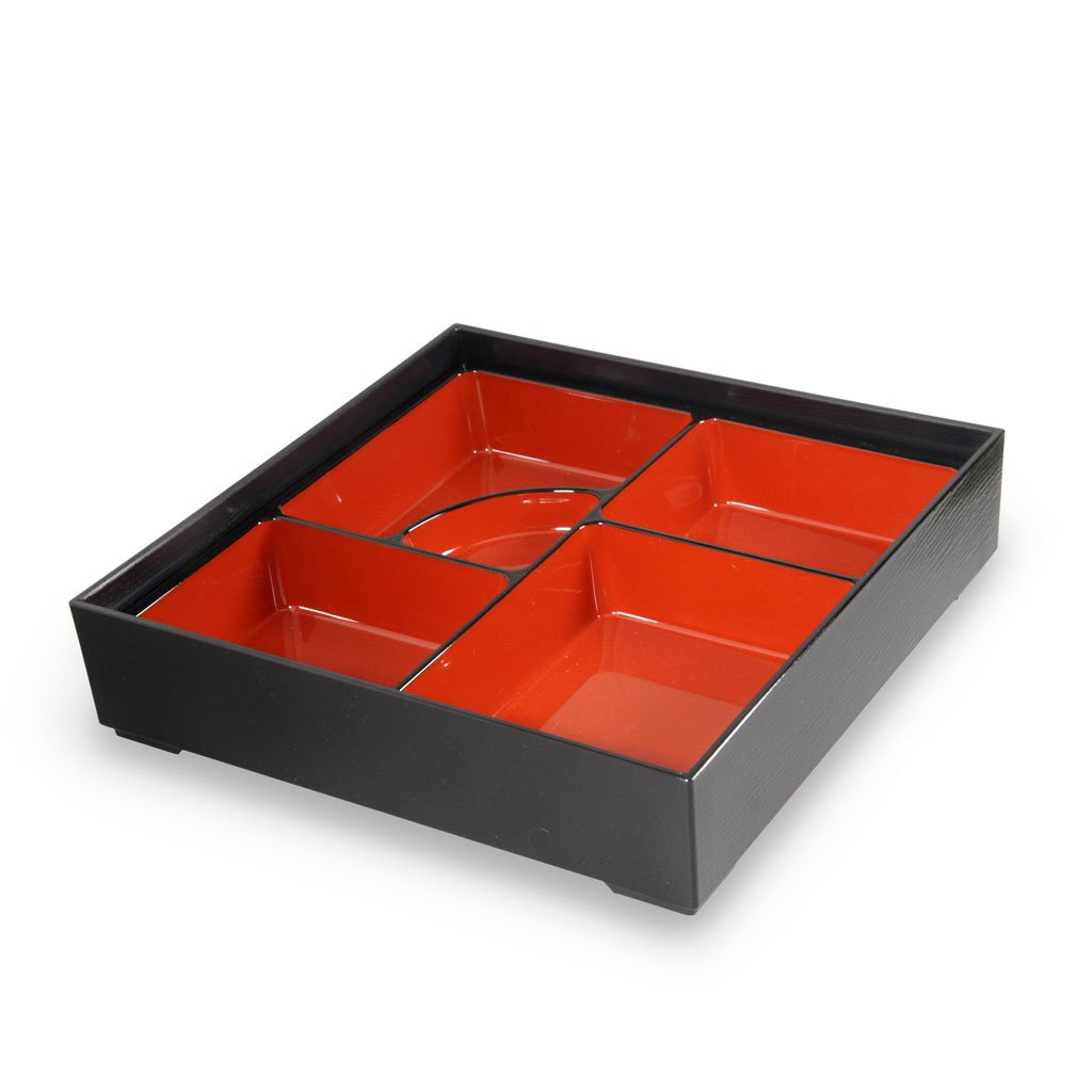 Two-Piece Square Lacquer Bento Box (TW-7B-009-BBL)