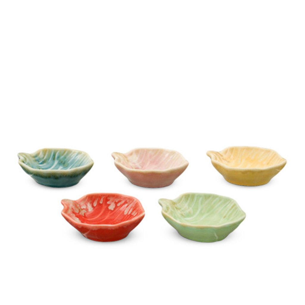 5-Pc Leaf Shaped Sauce Dish Set (TW-A21826-AS-SDP)