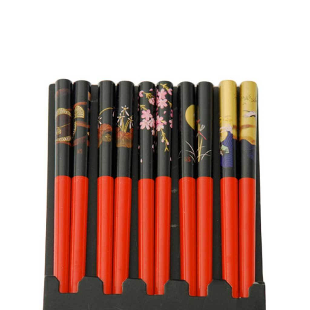 5-Pr Gift Set Chopsticks with Assorted Pattern (TW-CH73-CHB)