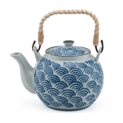 Nami Patterned Teapot with Bamboo Handle - 38 oz. (TW-FDA4-TPP)