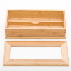 "10.75"" L Bamboo Holder with Divider (TW-G08-024-N-TLB)"