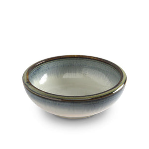 "6.5"" Shallow Bowl with Blue Trim (TW-K56-A-BWP)"