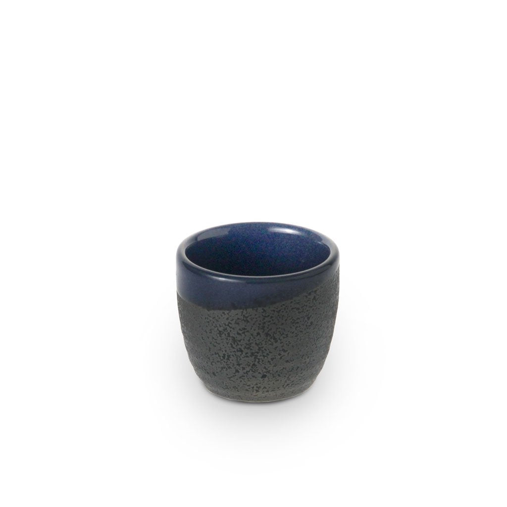 Textured with Glossy Blue Interior Sake Cup (TW-KY8-BB-BRP)