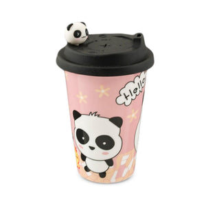 Panda Pattern Mug with Silicon Lid (TW-PC2-2-CUP)