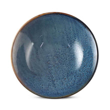 "Load image into Gallery viewer, 9"" Glossy Blue Bowl with Speckled Brown - 32 oz. (TW-R091-BWP)"