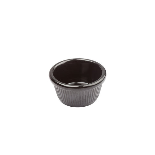 Melamine Ramekin Fluted Black Bowl - 1.5 oz. 12Pcs/Pack FINAL SALE (TW-RFM-1K-BWM)