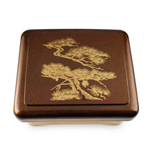 Load image into Gallery viewer, Unagi Lunch Box with Gold Japanese Pine Patterned (TW-SAN-1-B-SSL)