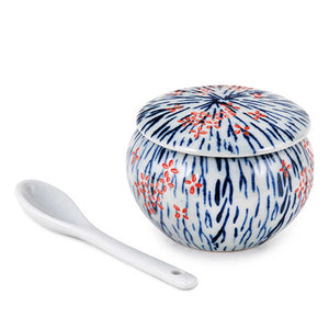 "2"" H Yakumi Pot with Floral Pattern  - 3 oz. (TW-SH417-SPP)"
