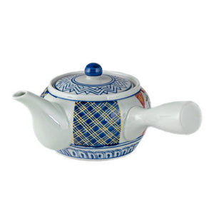 "4"" H Kyusu Single Handle Teapot with Strainer - 20 oz. (TW-SH9-2-TPP)"