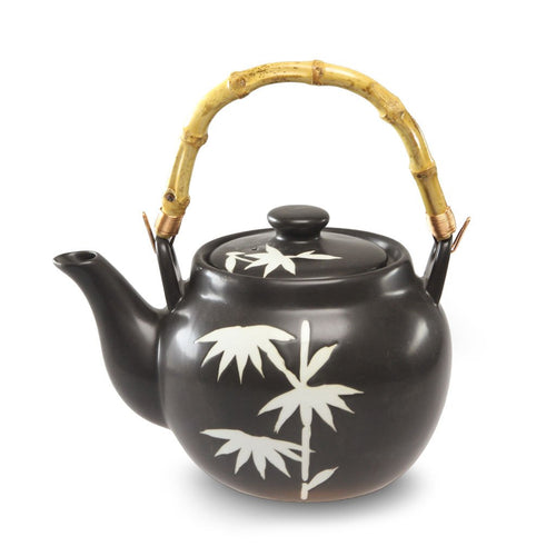 Bamboo Patterned Teapot with Bamboo Handle - 40 oz. (TW-TP42-TPP)
