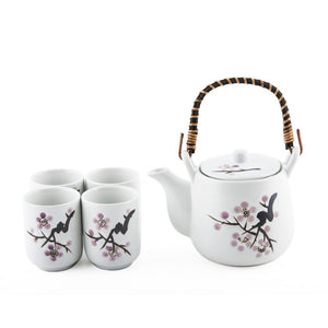1:4 White Cherry Blossom Tea Set - 20oz. Pot (TW-TPS6-1253-TPP)