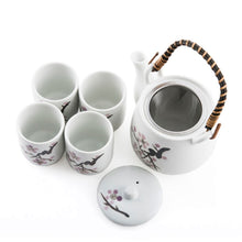 Load image into Gallery viewer, 1:4 White Cherry Blossom Tea Set - 20oz. Pot (TW-TPS6-1253-TPP)