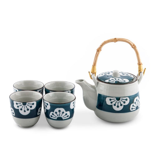 5-Pc Sakura Pattern Tea Set - 22 oz. (TW-TPS88-TPP)