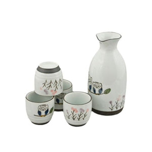5-Pc Sake Gift Box Set - Bottle - 10oz. (TW-TSS1-208-BRP)