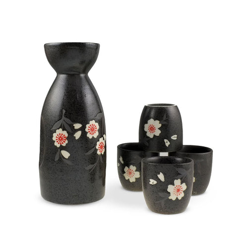 5-Pc Sake Cherry Blossom Pattern Gift Box Set (TW-TSS1-742-BRP)