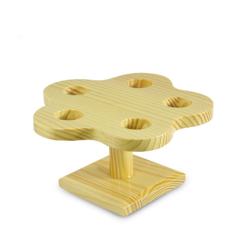 5-Holed Blossom-Shaped Wood Hand Roll Stand (TW-W-1026-SSW)