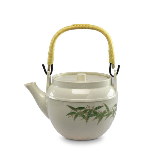 Green Bamboo Leaf with Gold Accent Melamine Teapot - 0.75 L (TW-WH-11-8-TPM)